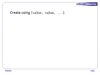 Software Carpentry: